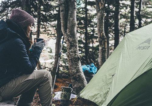camping near the matanuska glacier