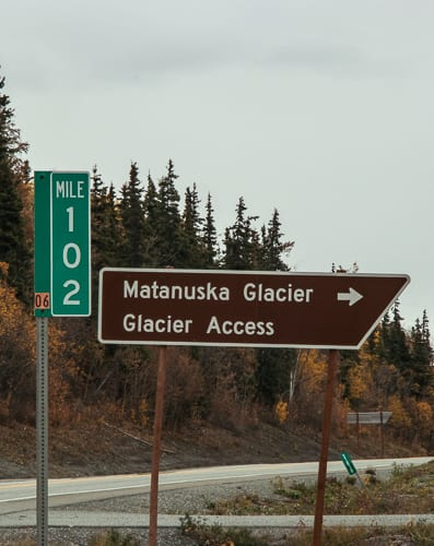 matanuska glacier access mile 102 glen highway